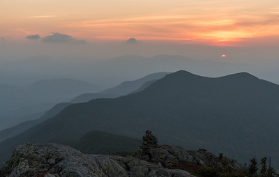 Sunset from West Bigelow Peak, Bigelow Mountain, Maine.
