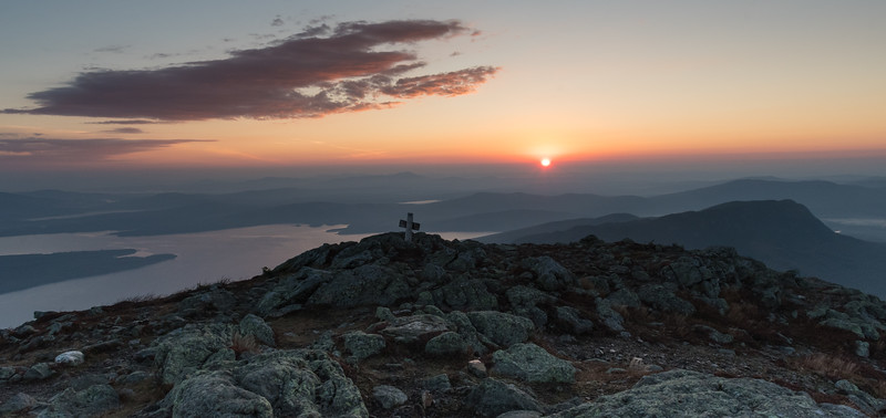Sunrise from Avery Peak, Bigelow Mountain, Maine.