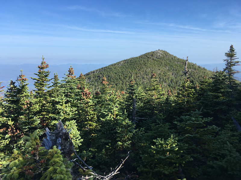 View of North Horn from the trail west of South Horn, Bigelow Mountain, Maine.