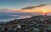 Sunrise from Avery Peak, Bigelow Mountain, Maine.