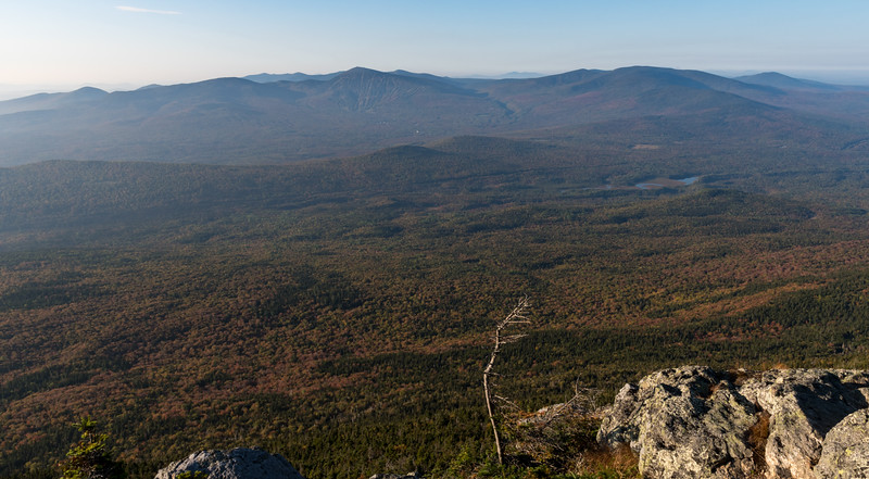 Sugarloaf range from West Bigelow Peak, Bigelow Mountain, Maine.