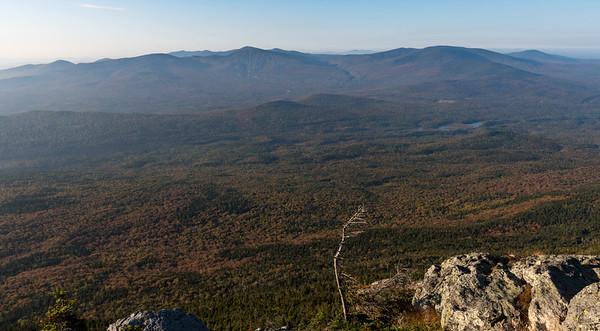 Sugarloaf range from West Bigelow Peak, Bigelow Mountain, Maine.