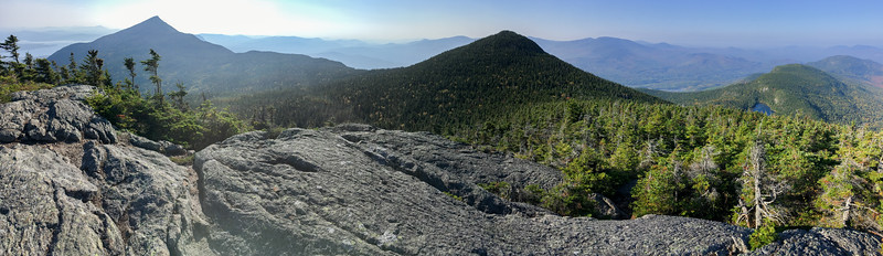 Panoramic view of Bigelow range from North Horn, Bigelow Mountain, Maine.