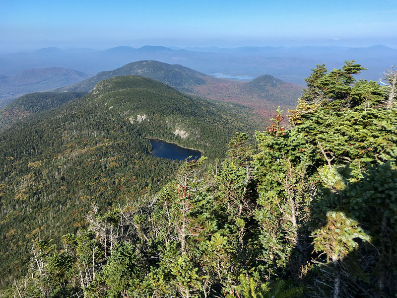 View of Horn Pond from South Horn, Bigelow Mountain, Maine.