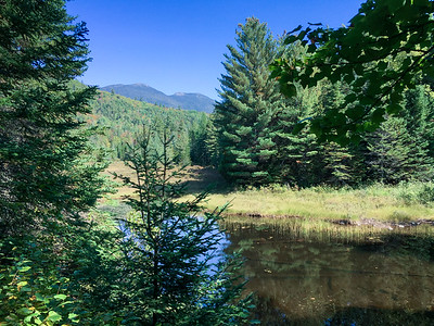 View of Bigelow (left) and Avery (right) peaks, Bigelow Mountain, Maine,