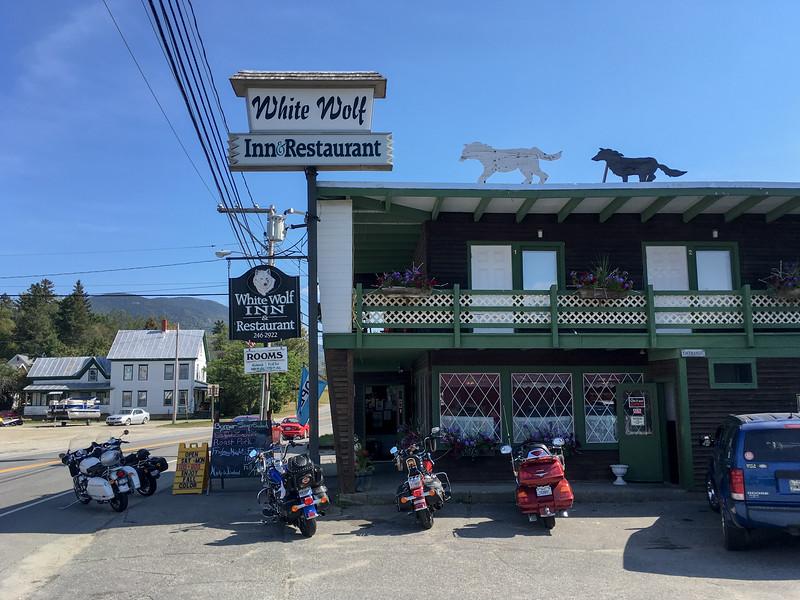 White Wolf restaurant, Eustis, Maine.