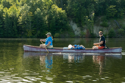 Pam and Andy on our CT River paddle trip.