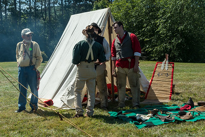 Re-enactors at Fort#4 at Charlestown.