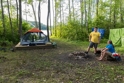 Our second camp, Lower Meadows Campsite, not far above Bellows Falls.