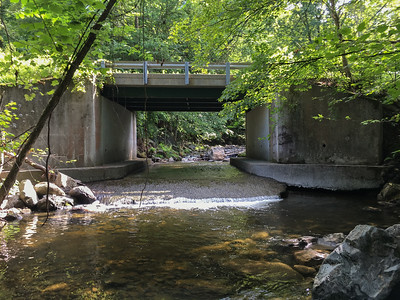 Grant Brook flows under Market Street.