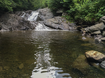 A well-known cascade on Grant Brook - Tannery Falls.