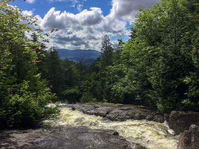 A view from the cascades on Santinoni brook.