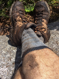 A Couchsachraga hike is a muddy affair - and this is while I was still clean.