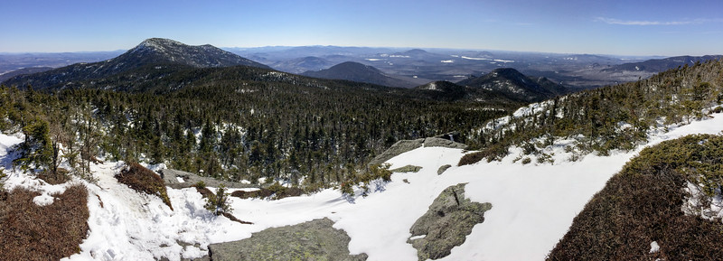 View from Panther Peak to Santinoni (at left) and Couchsachraga (prominent bump to right of center).