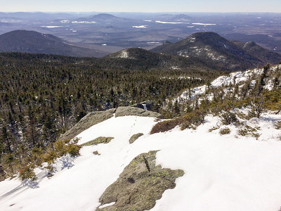 View of the ridgeline from Panther Peak to Couchsachraga, the prominent bump to right of center.