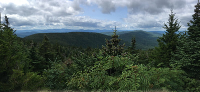 View from the outlook near the summit of Hunter Mountain.