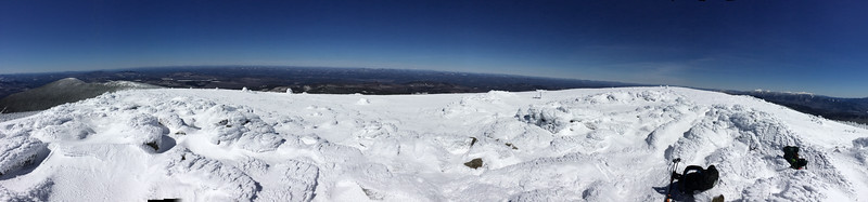 Panoramic view south, west, north, and northeast from summit of Mount Moosilauke.