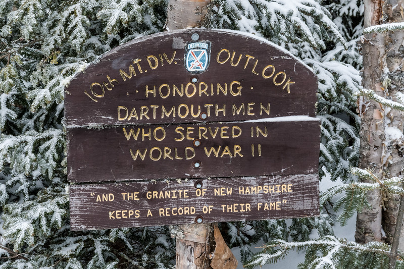 At the 10th Mountain Division overlook, Al Merrill Loop, Mount Moosilauke.