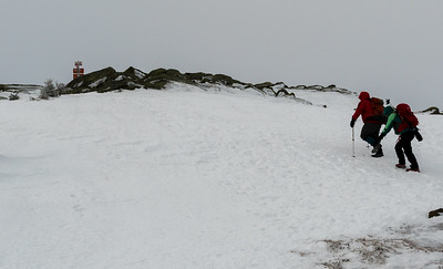 Our crew reaches the summit of Moosilauke..