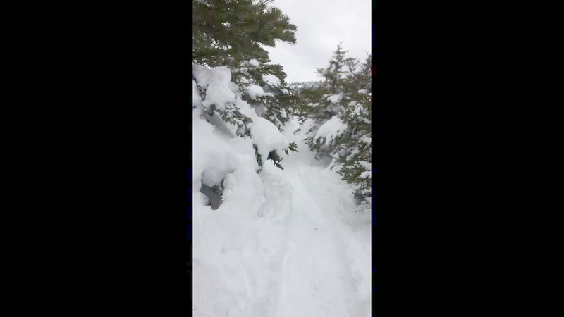 A short clip to give a sense of the terrain as we near the summit of North Twin.  The snow is deep!