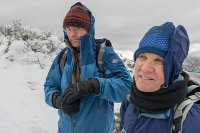 Jen and Lars on North Twin.