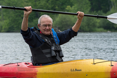 Grandpa Jack kayaking the Connecticut River near home.