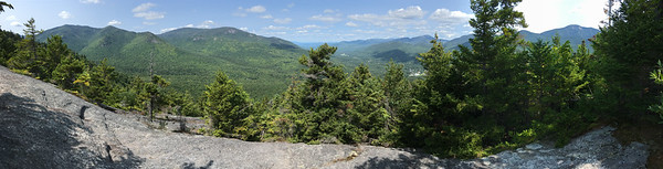 View of Keene Valley from the Rooster Comb in the Adirondacks.