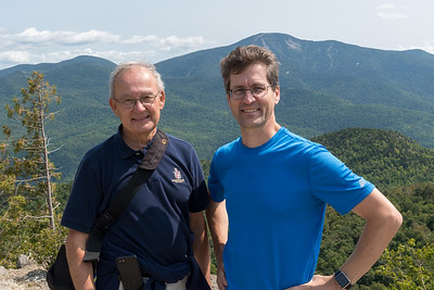Dad and David on the Rooster Comb in the Adirondacks, with Giant Mountain beyond.