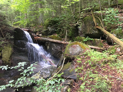 A pretty waterfall along the Calkins Brook herd path.