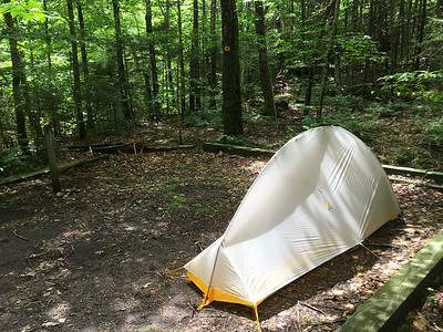My nifty new tent - Big Agnes Flycreek.