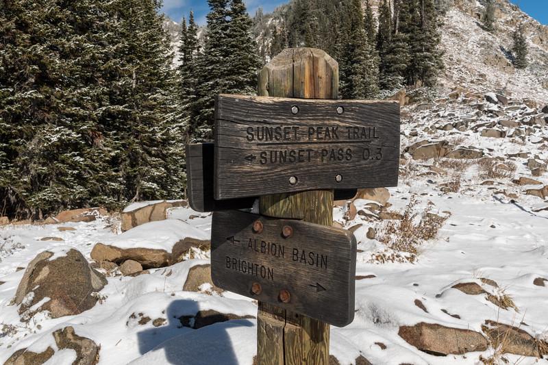 Catherine's Pass, above Alta, Utah.