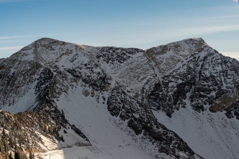 Twin Peaks from Hidden Peak, Snowbird.