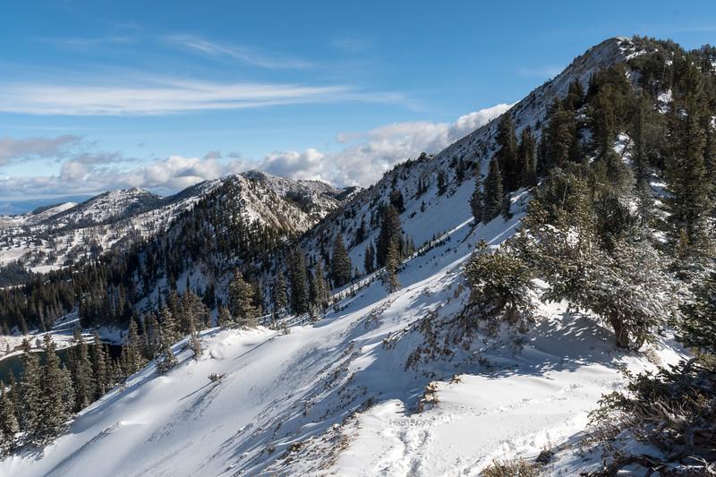 View of the ridge to Sunset Peak.
