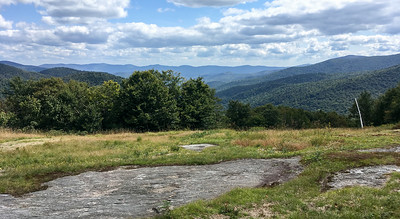 View east from the Long Trail and the Middlebury Ski Bowl, in Vermont.