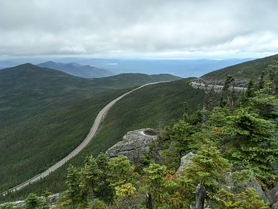 A view of the Whiteface Mountain Road, from near the summit.