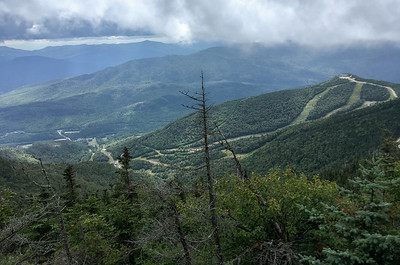 A view of the Whiteface ski area from the trail.