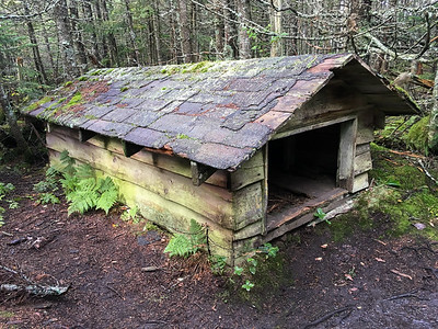 "The old ""toboggan shed"" - perhaps 3 feet tall -  along the trail to Whiteface."