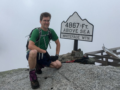 "David summits Whiteface Mountain, for the second time, to make it ""count"" for his 46."