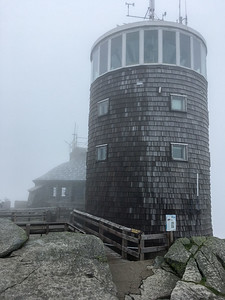 The weather station and warming hut on the summit of Whiteface Mountain.