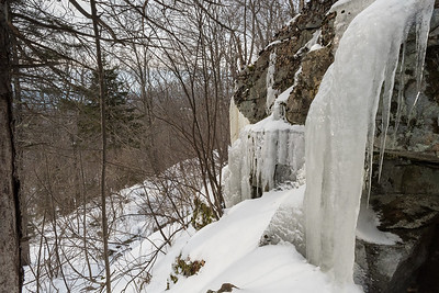 Ice flows on Lambert Ridge, Smarts Mountain, Lyme.
