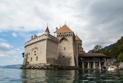 A nicer water view on Chillon Castle