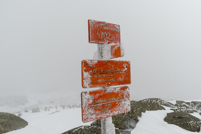 The summit of Moosilauke on a rather cloudy winter's day.