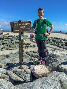 David on the summit of Mount Washington.