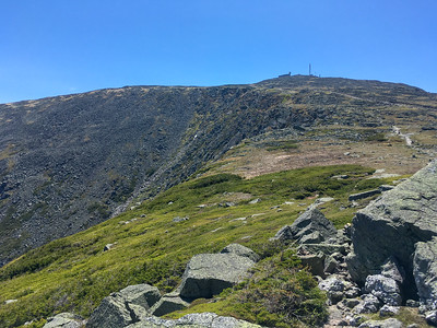 Summit of Mount Washington and the Great Gulf to the left.