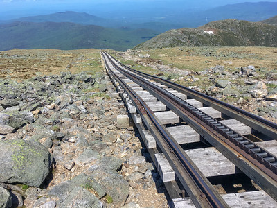 The Cog Railway up Mount Washington.