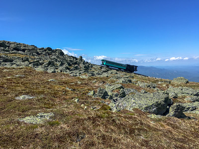The Cog Railway on its way up Mount Washington.