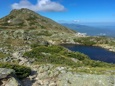 Lakes of the Clouds, with Mount Monroe in the rear.