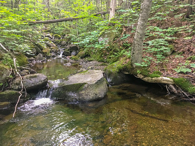 A pretty streambed flowing from Lone Mountain to Orbeton Stream, along the A.T. in Maine.
