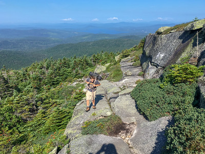 Andy climbs Saddleback Mountain in Maine.