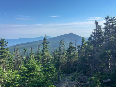 View of Sugarloaf from the summit of Mount Spaulding, along the A.T. in Maine.
